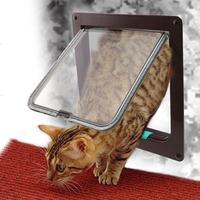 Brand New Lockable Cat Flap Door Kitten Dog Pet Lock Heavy Duty suitable for any wall or door Large size Brown color