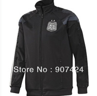Free shipping, Argentina Black Jacket World Cup 14/15 ,Soccer Jacket,Football  Sportswear,Spain Jerseys Coat For Men