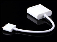 Dock Connector to VGA HDTV LCD Projector Adapter Cable Cord for iPad 2 3 for iPhone 4 4S for iPod Support IOS 8.1