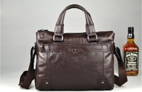 2012 New  Free Shipping 100% man genuine lether bag.fashion handbag.best briefcase bag. portfolio