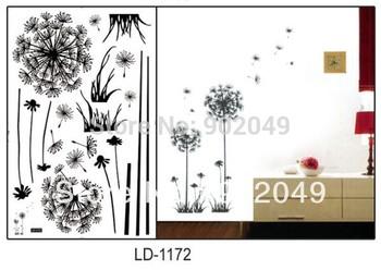 46x65cmPVC Korean Style Memory Dandelion Living Room Bedroom Background Wall Decoration KW- LD1172