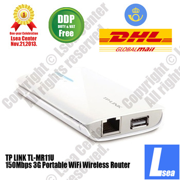 TP-LINK N150 3G Portable WiFi Wireless Router/MiFi 2000mAh Power Bank DDP Lsea Center (TL-MR11U)