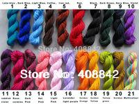 FREE SHIPPING 38 Colors 1mm 10pcs 280m/306yds Multicolour Chinese Knot CD Beading Chinlon Nylon Taiwan Cord Polyamide Yarn Knit