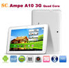 "Freeshipping 10.1"" Ampe A10 3G Tablet PC IPS 1280*800 Qualcomm Dual core 1.2GHz Built-in 3G/GPS/BT Dual Camera 2.0MP 4G ROM"