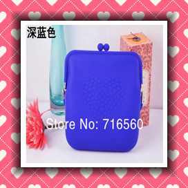 HOT!!!Lovely Rubber Silicone Purse Wallet Pouch Glasses Cellphone Cosmetic Big Coin Bag Case with Belt