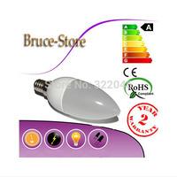 led candle lamp e14 3W spotlight smd 2835 warm / cool white 220V 240V led bulb indoor s e14  chandlier partners super bright