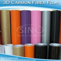 SINO CAR STICKER 1.52x5M 5FTx16.4FT Free Shipping A1000 Air Bubble Free 3D Carbon Fiber Vinyl Sticker