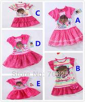 Doc Mcstuffins girls summer dress tutu lace dress one piece retail christmas rose fashion 1-7Y GS02