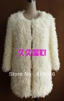 FREE SHIPPING!autumn and winter women fashion coat female wool outerwear plush overcoat clothing jacket