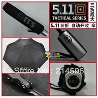 Nice Free Shipping 511 umbrella large automatic 3 fold umbrellas for rain both man and women's umbrella