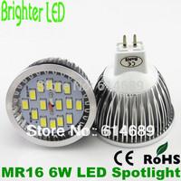 10pcs/lot  MR1612V Spotlight LED Lamp 6W 5630 15SMD Bulb Light