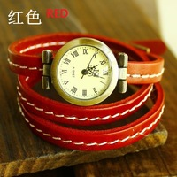 Wholesale high quality hot sale fashion genuine cow leather watch women dress quartz wrist watch KOW019