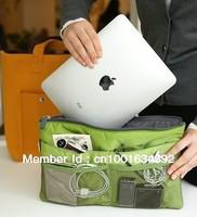 Free shipping HOT SALE 6 colors Travel Insert Handbag Organiser Purse Large liner Organizer Bag