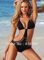 Sexy women Brand Bikini striped  Swimwear Swim Dress One-Piece Bathing Swimsuit black Monokini Swimmers