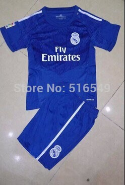 2013-2014 Real Madrid Away green Football Jerseys kids/boy youth/child Soccer Jersey Uniforms Shirts kit