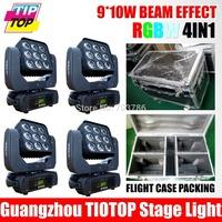 Hot Sell 12pcs/lot 7pcs*10W 4IN1 RGBW  LED Par Light DMX 512 4/8 Channels Plastic Case Stage Lighting Led Par Light