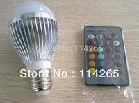 E14 GU10 E27 B22 base type AC85V~245Voltage 5W 3W RGB Remote Control 16 Color Change led lights lamps