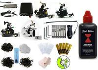 Complete Tattoo Machine Equipment Set Starter Kit 4 Guns Supply 250ml ink