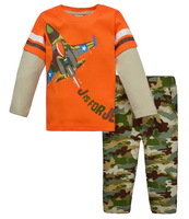Boy's Long-sleeved Sports Tshirt Set Girl's Fall Outdoor Activity Tee Sets, 6 Sizes - JBLS569/JBLS72/JBLS76/JBLS77/JBLS78