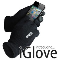 40pairs/lot  IGlove Screen Gloves for women with High grade box Unisex Winter for Iphone winter glove 2colors DHL FREE shipping