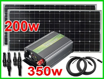 UK STOCK, 200W(2x100W)Mono solar panel,350W Grid tie inverter,Solar Grid system,No custom tax,WHOLESALE