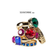 Freeshopping 2013 Fashion colour  combined magic exaggerated ring  R0289(China (Mainland))