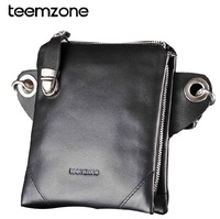 New Fashion Men waist pack 100% genuine leather multifunction man mini messenger bag chest pack casual small handbag 4001