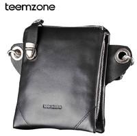 New Fashion Men waist pack 100% genuine leather multifunction man mini messenger bag chest pack casual small handbag 4001