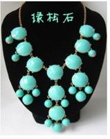 Wholesale AmazingValentine's Day Gift Sweater Chain Jewellry New Women Bubble Bib Statement Fashion Necklace/XL-A008 3pcs/lot