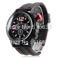 Brand New V6 Men Aviation Sport Style Analog Quartz Wrist Watch free shipping