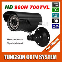 Top Configuration Sony CCD 960H Effio 700TVL Outdoor Waterproof Video Surveillance OSD Menu Night Vision IR CCTV Camera Security