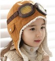 Free shipping NEW 100% wool Wholesale retail children hats boys flight caps kids winter hats earflap Cap Beanie Pilot(China (Mainland))