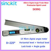 400mm Angle and Slope Finder Vertical+Horizontal Digital Display 16 Spirit Level/Bubble Level Marker SK99G