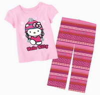 BIG SIZES! 7-11 Years Girl's Excellent Quality Cartoon Minnie Sleepsets Nightwear Suit, 5 Sizes/lot - CMPA102/CMPA407/CMPA409