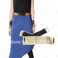 Chic Women's Accessary metal golden mirrored belt PJ003
