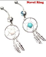 10pc/lot 2014 Hot Sale Set Unisex  Dream Catcher Navel Rings Belly Button Rings Body Piercing Jewelry