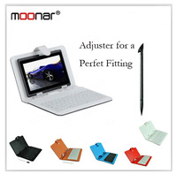 Leather Case +Micro USB Keyboard + Stylus Pen Keyboard Case for 7inch Tablet PC  DA0170 -20