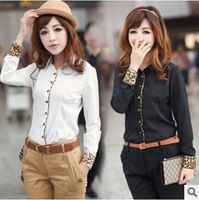 Free Shipping WOMEN'S SEXY CHIFFON SLEEVELESS BLOUSE LEOPARD Shirt-drop shipping #1282