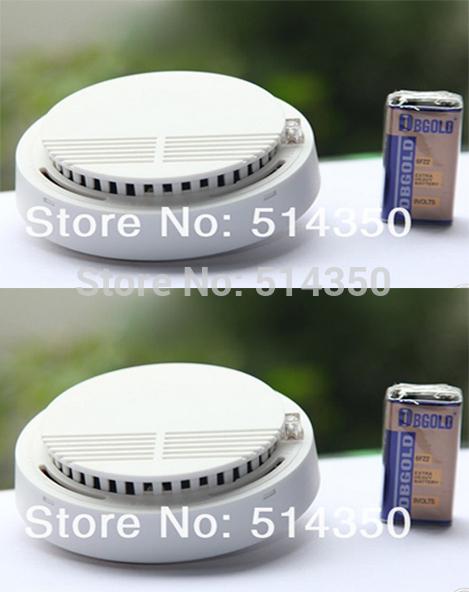 2pcs hot Photoelectric 433/315MHZ Wireless Smoke Detector for Fire Alarm Sensor(China (Mainland))