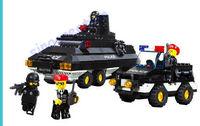 Sluban brand 311pcs/set Riot Police Series DIY Armoured Patrol Educational Toy Blocks Set M38-B2000 For Children, Free Shipping