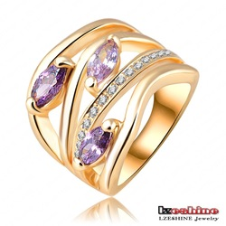 Newest Arrival Unique Multi-layer Engagement Rings Pave Austrian Crystals 2Colors Options Fashion Jewelry Ri-HQ0224(China (Mainland))