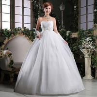Free Shipping 2014 Fashion Rhinestone Flower Sweet Bride Princess Wedding Dress