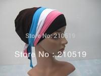 U048 fashion plain  BLACK  islamic hijab cap underscarf with tie,muslim hat