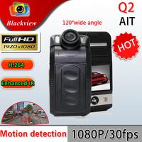 Original Carcam Q2 Car DVR Full HD 1920*1080P H.264 Portable Car Camera with Night Vision and 2 inch Screen