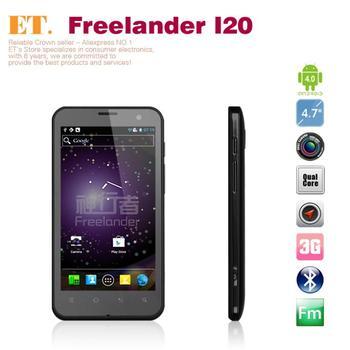 Free shipping 4.7 inch IPS freelander i20 wcdma phone 1gb ram 8G ROM exnoys 4412 quad core 13.0MP dual camera GPS WIFI Bluetooth