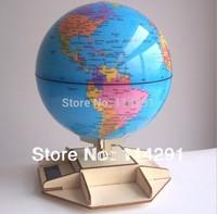 DIY Wooden Solar power world globe earth Globe world map home decor globe school geography toy ball teacher aid