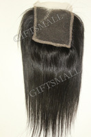 "8""10""12""14""16""18"" (4""x4"") 100% Virgin Brazilian Hair Swiss Lace Top ClosureStraight,body wave, natural Color"