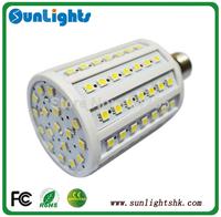 E27/E14/B22 base type 110v/ 220V 20W 102 Led SMD 5050 360 degree Corn lighting Lamp Warm/Cool White CE UL bulb