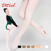 Dttrol free shipping Girl&#39;s Convertible ballet  dance tights with waist band and gusset--two ways to try for children (D004820)