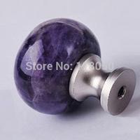 30mm Amethyst Dresser Knob,Purple Crystal Cabinet Door Knobs Drawer Handles,Top Sale Gemstone Home Furniture Hardware,Cute Items